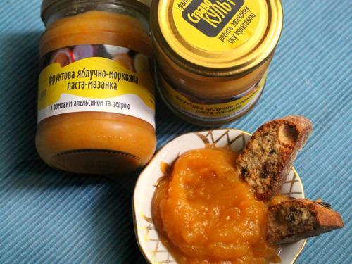 Купить Фруктовая яблочно-морковная паста-мазанка с ромовым апельсином
