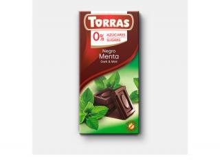 Купить ЧЕРНЫЙ ШОКОЛАД TORRAS с мятой