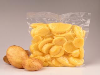 Купить Картофель сырой, очищенный в дольках, в вакууме