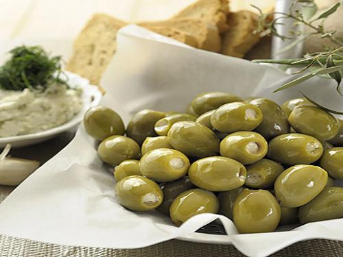 """Купить Оливки  зеленые """"Халкидики"""" фаршированные сыром ТМ Almito"""