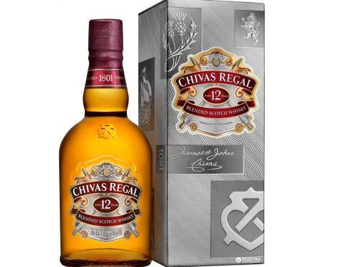 Купить Виски Chivas Regal 0.5 л 12 лет выдержки 40% в подарочной упаковке