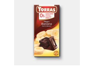 Купить ЧЕРНЫЙ ШОКОЛАД TORRAS с бананом
