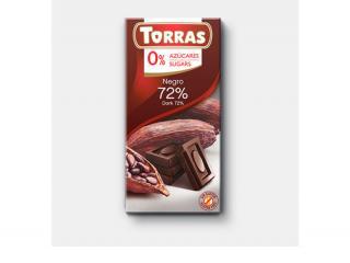 Купить ЧЕРНЫЙ ШОКОЛАД TORRAS 72% какао