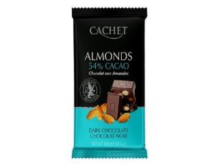 Купить Шоколад CACHET 54% cacao чёрный с миндалём