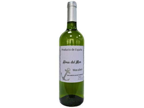 Купить Вино Alma del Mar Macabeo белое полусладкое 0.75 л 11%