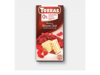 Купить БЕЛЫЙ ШОКОЛАД TORRAS с ягодами ГОДЖИ