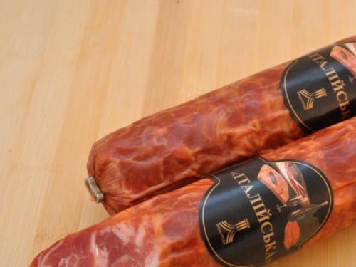 Купить Итальянская сырокопченая колбаса