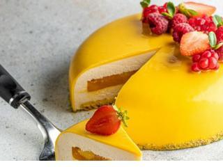 Купить Безмолочный Чизкейк манго-маракуйя торт 300г