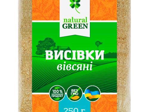 Купить Отруби овсяные, 250 г, NATURAL GREEN