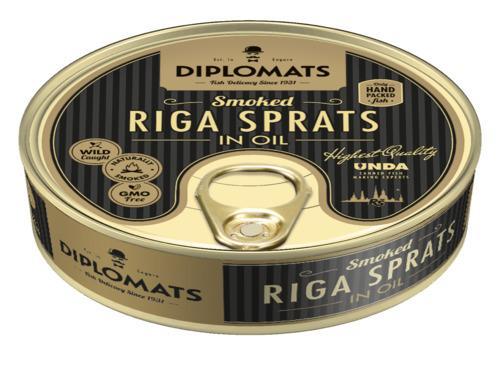 Купить Рижские шпроты, ТМ Diplomats