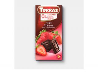 Купить ЧЕРНЫЙ ШОКОЛАД TORRAS с клубникой