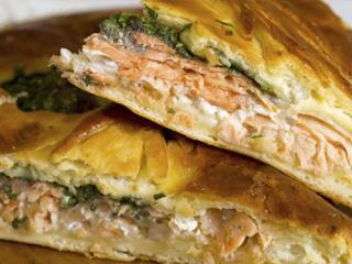 Купить Пирог лосось со шпинатом