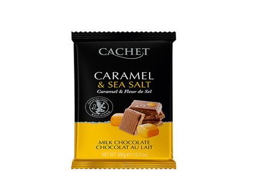 Купить Бельгийский шоколад Cachet «Caramel & Sea salt»