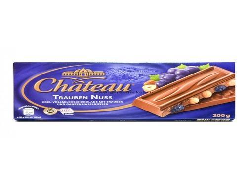 Купить Шоколад молочный с цельным лесным орехом и изюмом Chateau