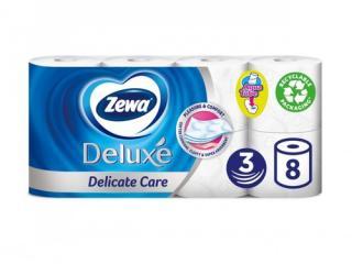 Купить Туалетная бумага Zewa Deluxe белая трехслойная 8 рулонов