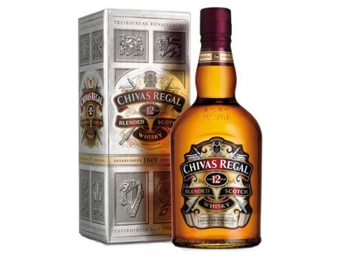 Купить Виски Chivas Regal 1 л 12 лет выдержки 40% в подарочной упаковке