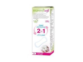 Купить MASMI Органические ультратонкие прокладки MAXI PLUS 2 в1 для ежедневных или незначительных выделений, 24 шт.