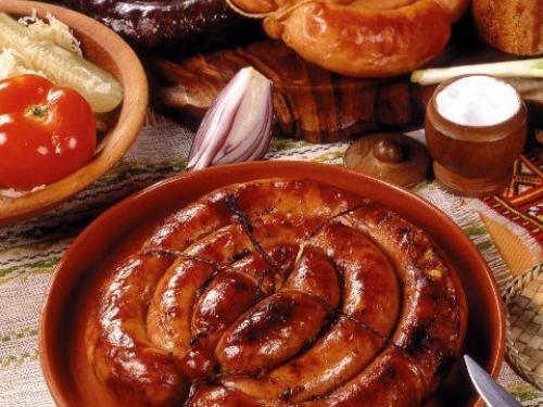 Купить Запеченая в печи домашняя колбаска
