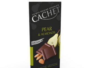 Купить Шоколад Cachet Dark Chocolate Pear & Almonds
