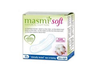 Купить Masmi прокладки SOFT ультратонкие гигиенические д/сильных выделений, с крылышками 10 шт.