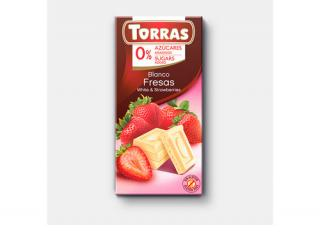 Купить БЕЛЫЙ ШОКОЛАД TORRAS с клубникой