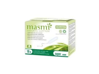 Купить Masmi органические тампоны Super без аппликатора 18 шт.