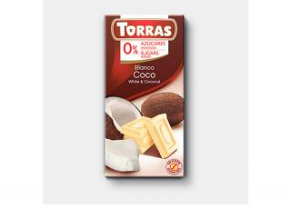 Купить БЕЛЫЙ ШОКОЛАД TORRAS с кокосом