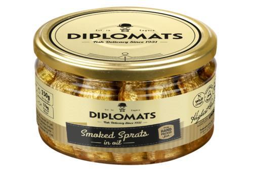 Купить Шпроты в стекле, ТМ Diplomats