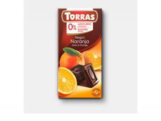 Купить ЧЕРНЫЙ ШОКОЛАД TORRAS с апельсином
