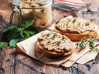 Купить Паштет из утиной печени с грибами шиитаке