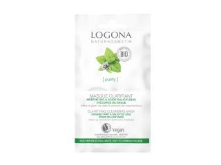 Купить Био-маска для лица Logona Мята и салициловая кислота с коры вербы очищающая для жирной и комбинированной кожи 2 х 7.5 мл