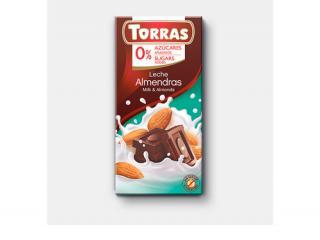 Купить МОЛОЧНЫЙ ШОКОЛАД TORRAS с минделем