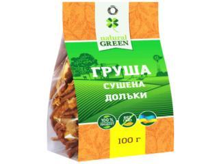 Купить Груша сушеная, дольки, NATURAL GREEN