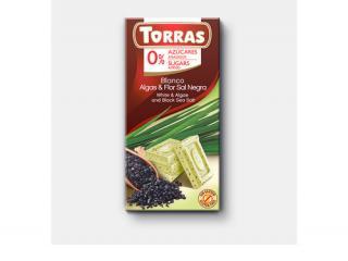 Купить БЕЛЫЙ ШОКОЛАД TORRAS из морских водорослей и Черным цветком SOL