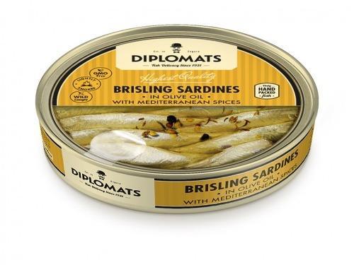 Купить Сардины подкопченые в оливковом масле со средиземноморскими специями, ТМ Diplomats