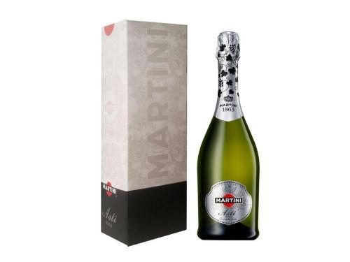 Купить Вино игристое Martini Asti белое сладкое 0.75 л 7.5% в подарочной упаковке